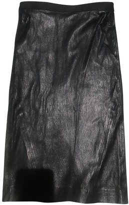 Balmain \N Black Leather Skirts