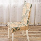 Fabal Floral print Chair Cover Home Dining elastic Chair Covers multifunctional Spandex elastic cloth Universal Stretch (B)