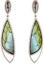 Monique Péan Women's Diamond & Tourmaline Double-Drop Earrings