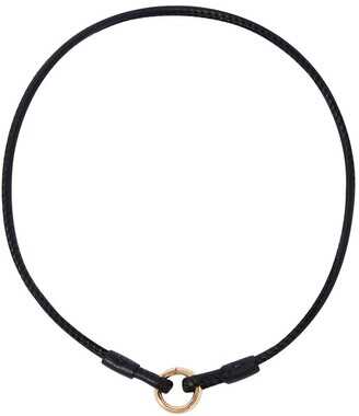 Annoushka 14kt yellow gold Lovelink leather necklace