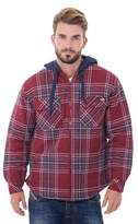 Dickies Men's Big & Tall Flannel Hooded Shirt Jackets
