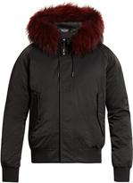 Kenzo Fur-trimmed down bomber jacket
