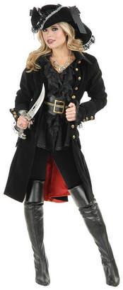 BuySeasons Women Pirate Vixen Coat Black Adult Costume