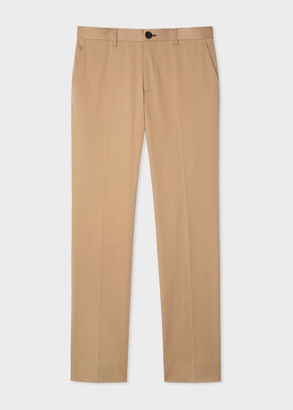 Paul Smith Men's Slim-Fit Sand Cotton Stretch Chinos
