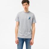 Paul Smith Men's Grey Marl Organic-Cotton Small 'Dino' Print T-Shirt