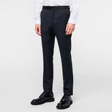 Paul Smith Men's Slim-Fit Navy 'Raining Dot' Wool Tuxedo Trousers