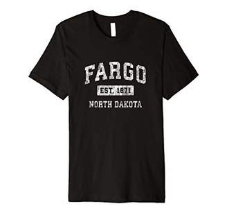 Dakota Fargo North ND Vintage Established Sports Design Premium T-Shirt