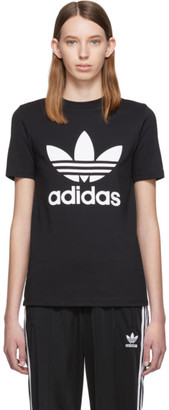 adidas Black Trefoil Logo T-Shirt