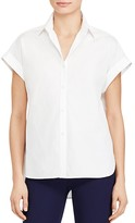 Lauren Ralph Lauren Cap Sleeve Button Down Shirt