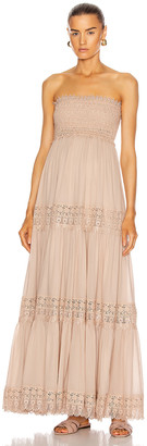 Charo Ruiz Ibiza Zoe Dress in Nude | FWRD