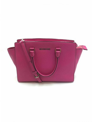 Michael Kors Selma Pink Leather Handbags