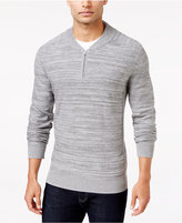Alfani Men's Regular Fit Baseball-Collar Sweater, Only at Macy's