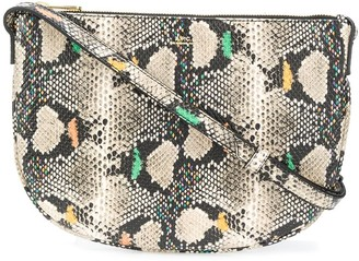 A.P.C. Maelys snakeskin crossbody bag
