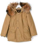 Woolrich Kids - fur collar parka - kids - Cotton/Nylon/Coyote Fur - 5 yrs