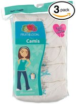 Fruit of the Loom 3Pack Girls Cami Camisoles Undershirts Tank Tops XL