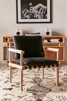 Urban Outfitters Leather Dowel Arm Chair