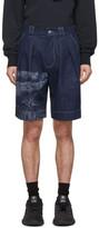 Feng Chen Wang Navy Lanyinhuabu Shorts