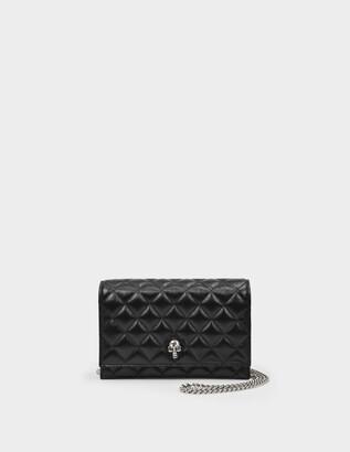 Alexander McQueen Skull Mini Bag in Black Mate Leather