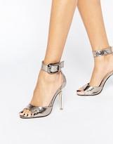 London Rebel Diana Ankle Strap Heeled Sandals