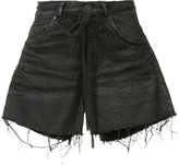 Off-White pinstripe denim shorts - women - Cotton/Spandex/Elastane - 26