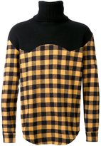Palm Angels checked high neck pullover