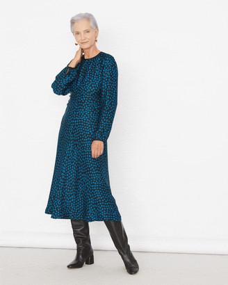 Jigsaw Cheetah Spot Ruched Midi Dress