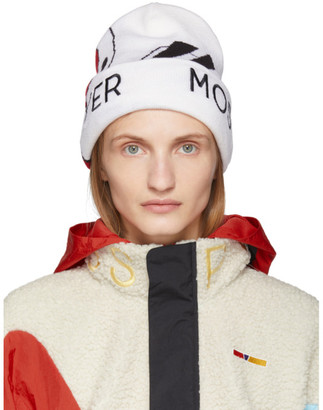 Reebok by Pyer Moss Off-White and Red Wave Beanie