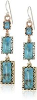 """Barse Parallel"""" Tri-Tone Genuine Linea French Wire Drop Earrings"""