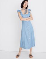 Madewell Petite Denim Princess-Seamed Maxi Dress