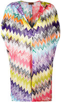 Missoni zig zag print beach dress - women - Cotton/Rayon - 40