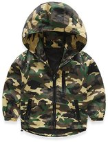 Mud Kingdom Boys Zipper Hooded Jacket Camouflage Coat 8-9T