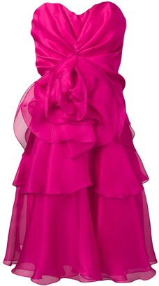 Rhea Costa Strapless Cocktail Dress