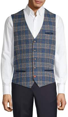 A Fish Named Fred Plaid Button-Front Vest