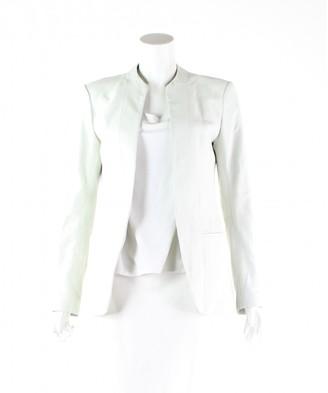 Theory \N Ecru Leather Jackets