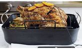 Crate & Barrel Calphalon Contemporary TM Non-Stick Roaster with Lifters and Baster