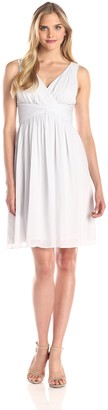 Donna Morgan Women's Jessie Short Chiffon Dress