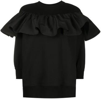 Valentino Ruffle Detail Sweatshirt