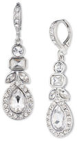 Givenchy Imitation Rhodium-Plated Pear Drop Earrings