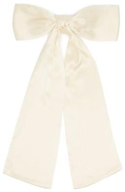 Sophie Buhai Bow Silk-satin Hair Clip - Ivory