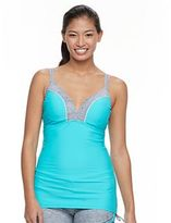 Free Country Women's Colorblock Underwire Tankini Top