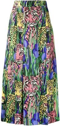 Gucci Feline Garden print skirt