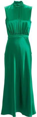 Saloni Fleur Silk Midi Dress