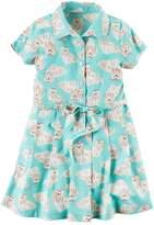 Carter's Girls 4-8 Dog-Printed Shirt Dress