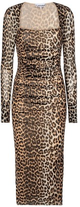 Ganni Leopard-print maxi dress