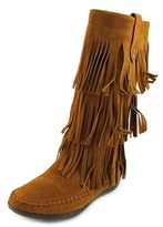 Rampage Clara Round Toe Suede Mid Calf Boot.