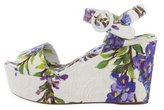 Dolce & Gabbana Brocade Floral-Accented Wedges