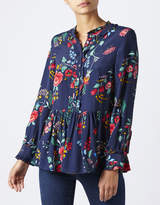 Monsoon Emma Print Peplum Shirt