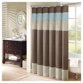 Nobrand No Brand Salem Solid Pieced Polyester Shower Curtain w/ Pintucking -Brown
