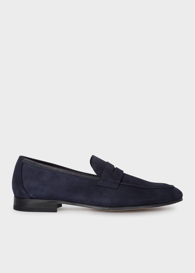 Paul Smith Men's Dark Navy Suede 'Glynn' Loafers
