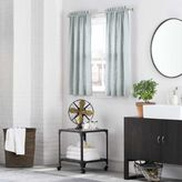 Kenneth Cole Reaction Home Mineral Bath Window Curtain Tier Pair in Stoney Blue